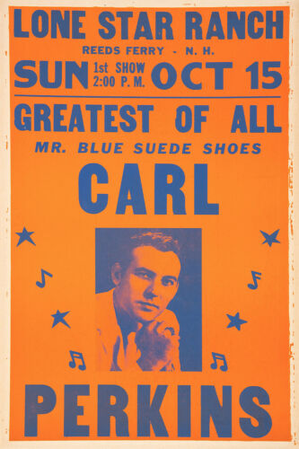 CARL PERKINS 1961 REEDS FERRY NEW HAMPSHIRE CONCERT POSTER