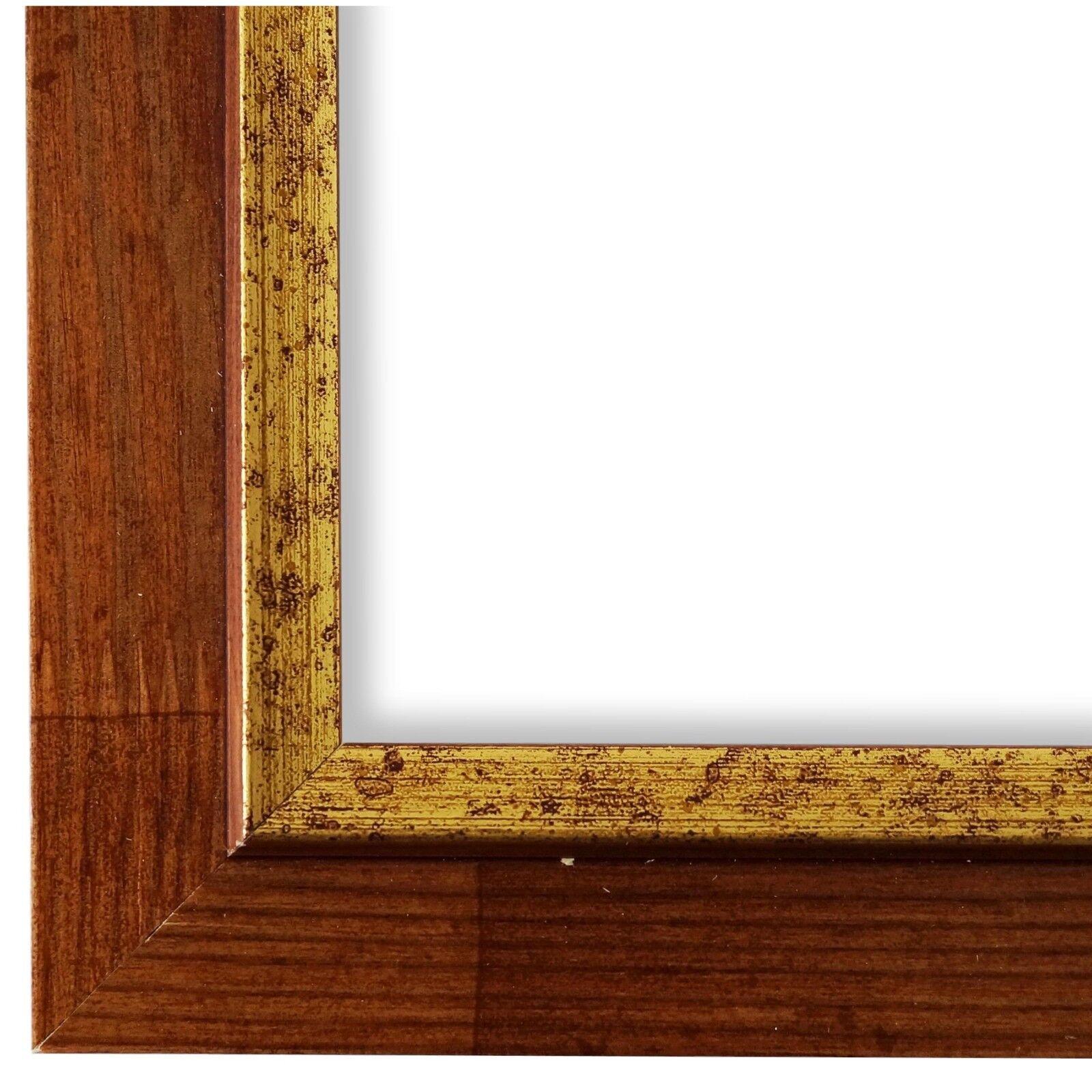 Bilderrahmen Braun Gold Retro Vintage Holz Catanzaro 3,9 - NEU alle Größen