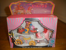 wind-up circus Train Toy Monkey Horse carriage  clown in box