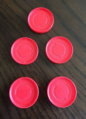 Pick 5 Red or Yellow Discs Chips Connect 4 Four Game Replacement Pieces Parts