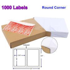 1000 Premium 85 X 55 Half Sheet Self Adhesive Shipping Labels Round Corner