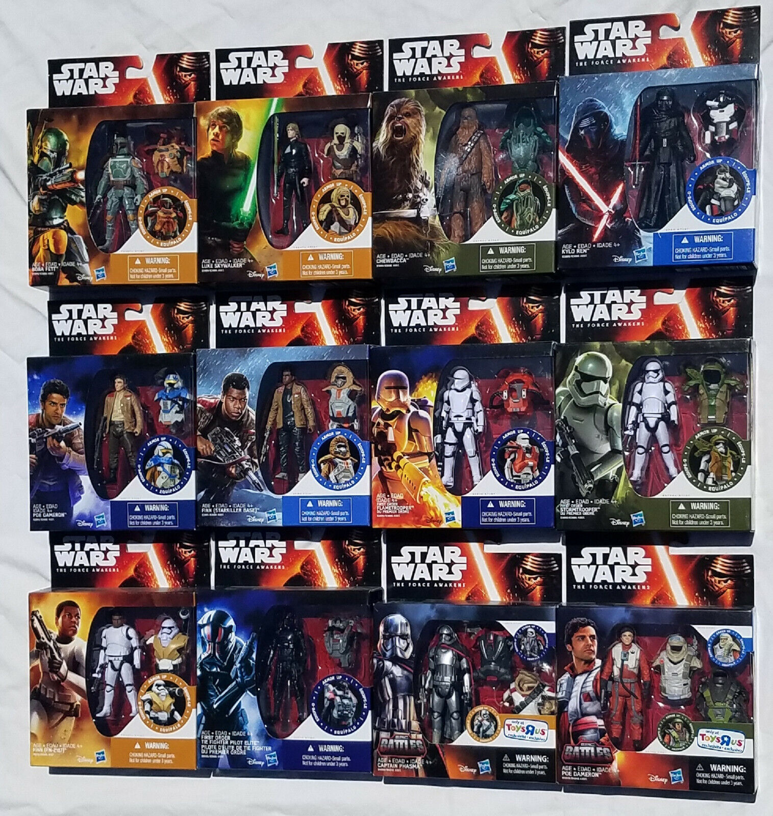 Star Wars Force Awakens Armor Up Action Figures Complete Set With Two Exclusives