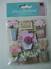 EK SUCCESS JOLEE'S BOUTIQUE FLOWER MARKET DIMENSIONAL STICKERS BNIP