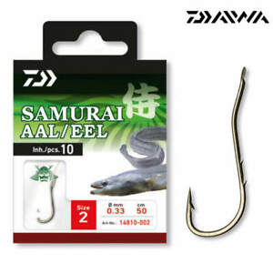 Daiwa Tournament Aalhaken bronze Gr.1-10 Stück