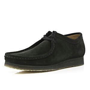 CLARKS originaux hommes x wallabees Chaussure daim UK noir UK daim 9,9 1c017b
