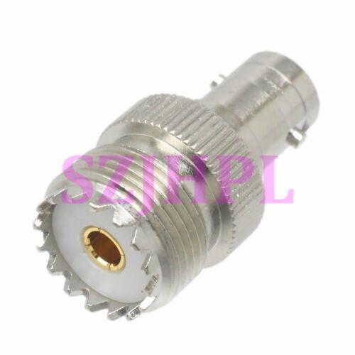 1pce Adapter UHF SO239 female jack to BNC female jack RF connector straight F//F