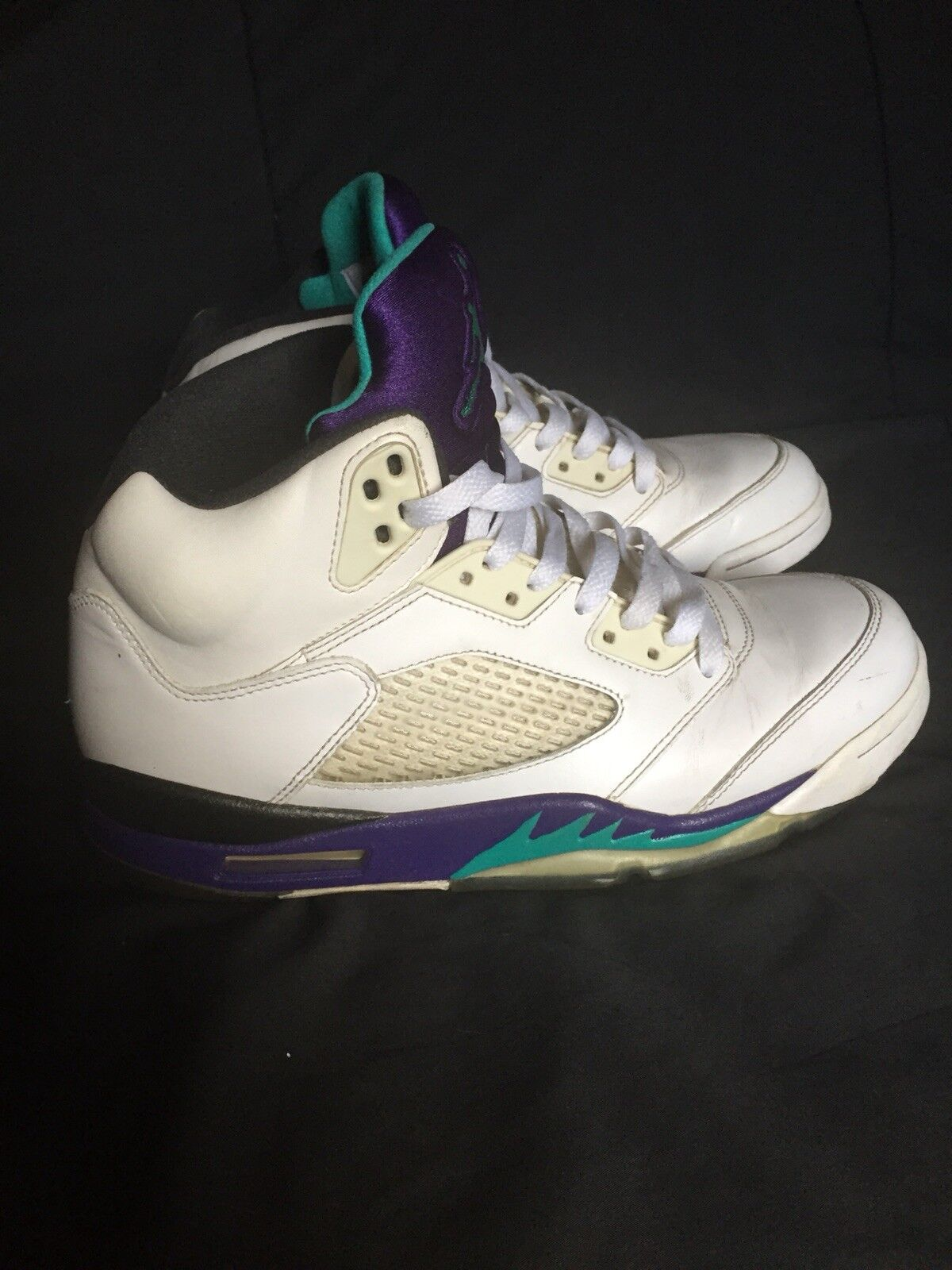 Air Jordan 5 V Retro Grape White Men's Comfortable New shoes for men and women, limited time discount