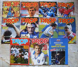 lot 10 revue, magazine supplément Sport Rugby - DROP - 1984 à 1985 RARE - France - État : Comme neuf : Livre qui semble neuf, mais ayant déj été lu. La couverture ne présente aucune marque d'usure apparente. Pour les couvertures rigides, la jaquette (si applicable) est incluse. Aucune page n'est manquante, endommagée, pli - France