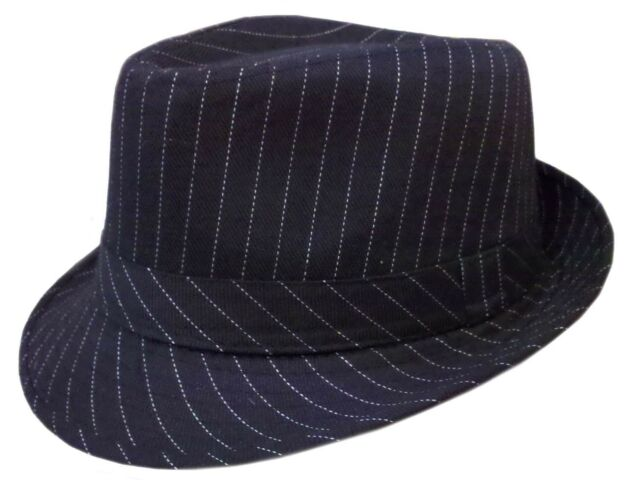 Kids Fedora Bucket Boys Girls Hat Children Cap-pin Stripe Black ... c92f342a0a8