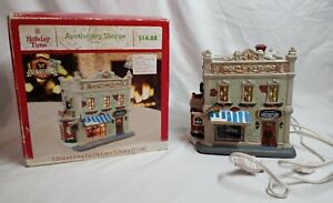 Holiday-Time-Lighted-Christmas-Village-Apothecary-Shoppe-Vintage-Victorian-2014