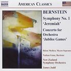 """Bernstein: Symphony No. 1 """"Jeremiah""""; Concerto for Orchestra """"Jubilee Games"""" (CD, Jan-2004, Naxos (Distributor))"""