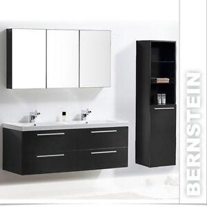 Badezimmermöbel doppelwaschbecken  Badmöbel Set Doppelwaschbecken Badezimmermöbel Spiegel weiß walnuss ...