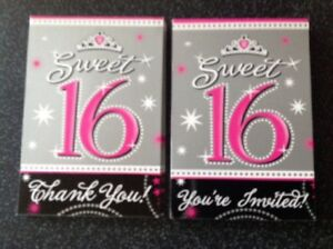 Image Is Loading Sweet 16 16th Birthday Party Invitations Invites 10