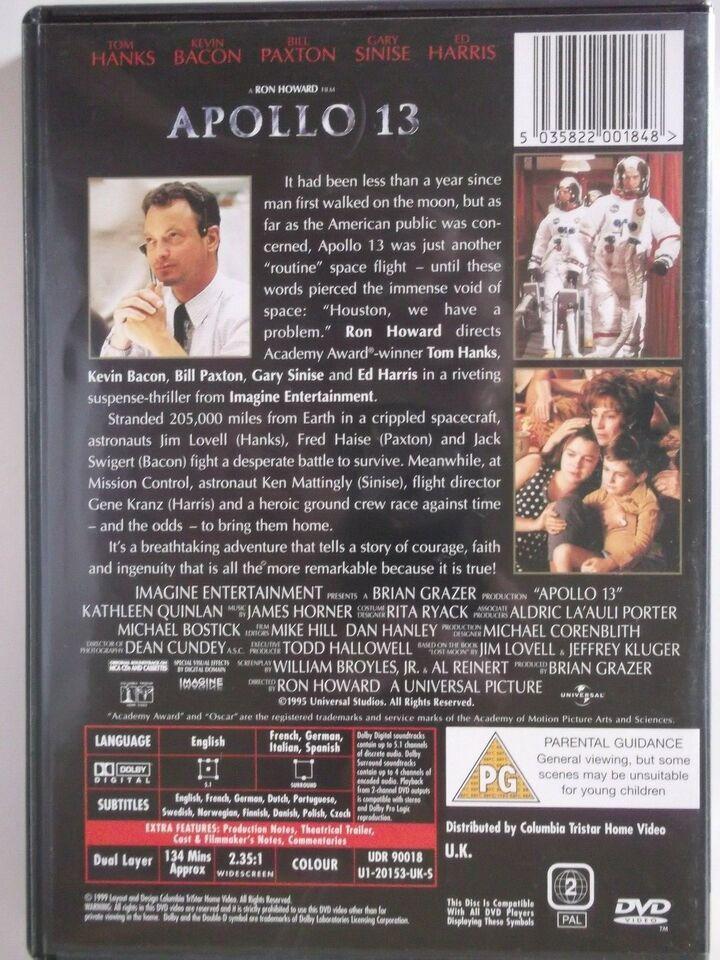 Apollo 13, instruktør Ron Howard, DVD
