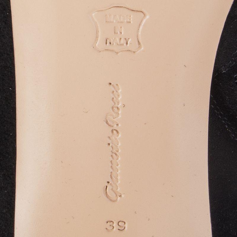 Auth Auth Auth Gianvito Rossi 55975 Negro de cuero de gamuza cuisard Sobre Rodilla botas Zapatos 38 e69e16