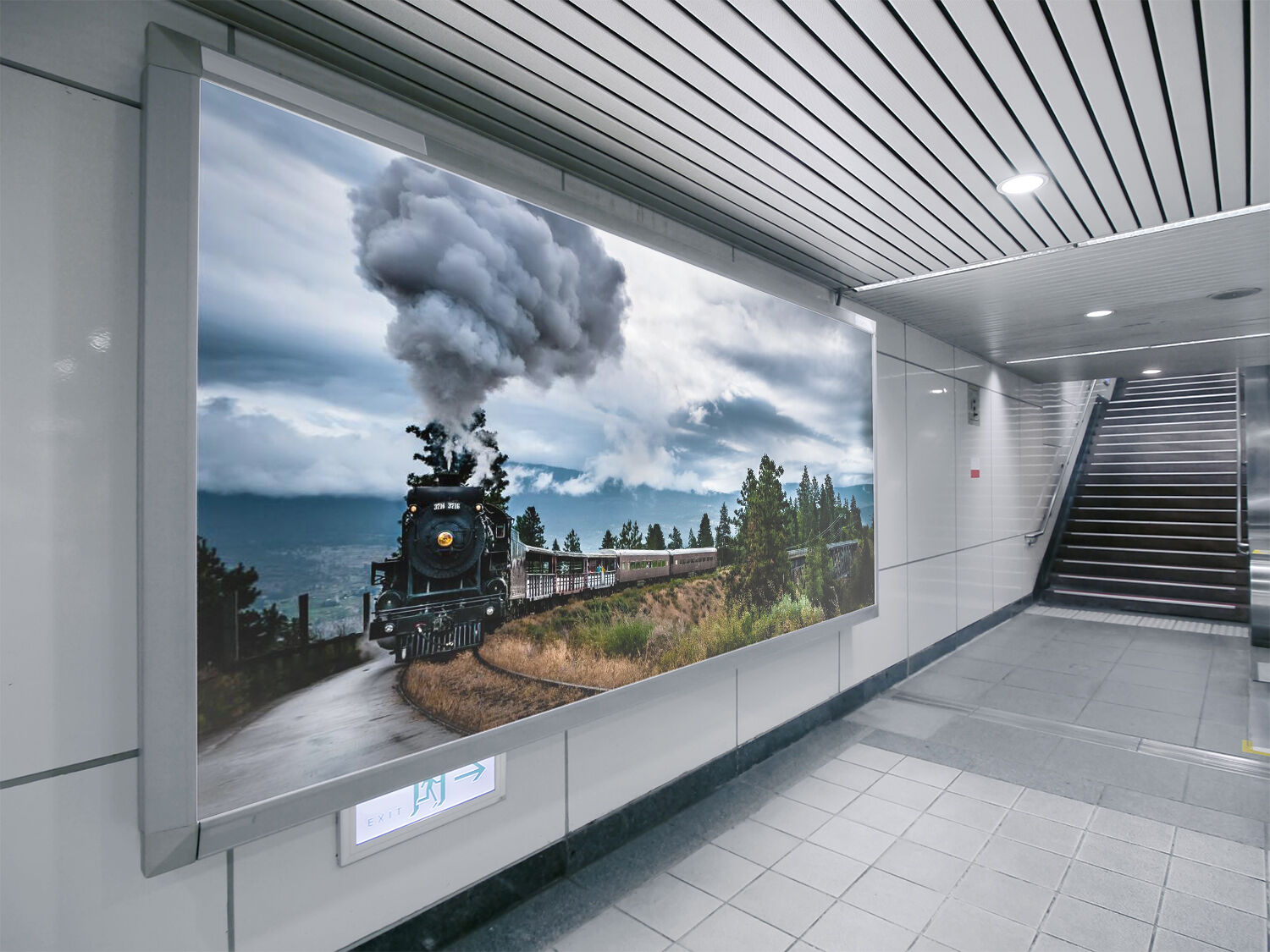 3D Train smoke 2433 Wall Paper Wall Print Decal Wall Deco Indoor Wall Murals