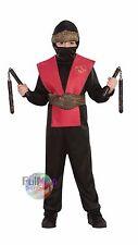 New Red Ninja Boy Suit Halloween costume