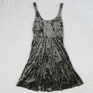 Volcom-Women-039-s-Dark-Gray-Velvet-Mini-Short-Dress-Size-Small-Georgia-May-Jagger