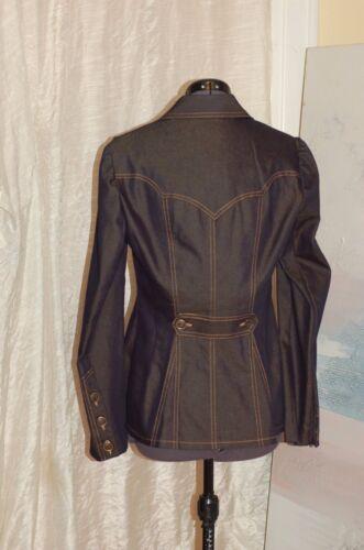 6 Usa Button Jean Down Størrelse Made Nanette Navy Blue Jacket Lepore In CwPxW8q4g