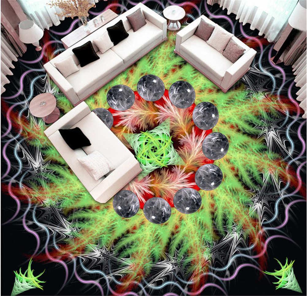 Bardian Pattern 3D Floor Mural Photo Flooring Wallpaper Home Print Decoration