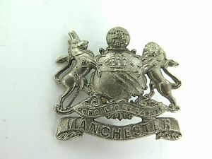 VERY-UNUSUAL-ANTIQUE-MANCHESTER-UK-HEAVY-SET-DOG-COLLAR-BADGE