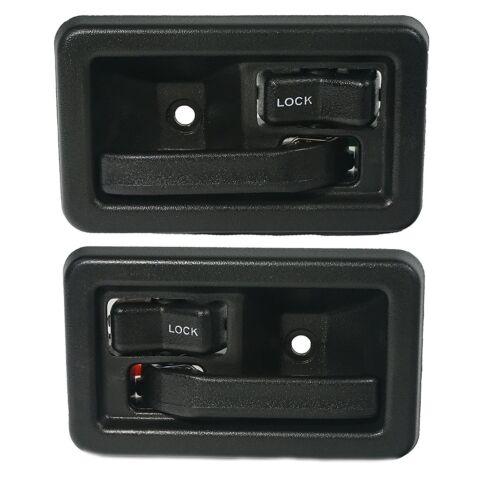 87-02 Jeep Wrangler Black Inside Door Handle Set 55176476AB 55176477AB