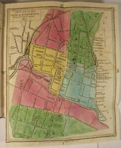 Details about 1852 Geer\'s Hartford CT City Directory COLOR MAP FOLDOUT  Samuel Colt Firearms