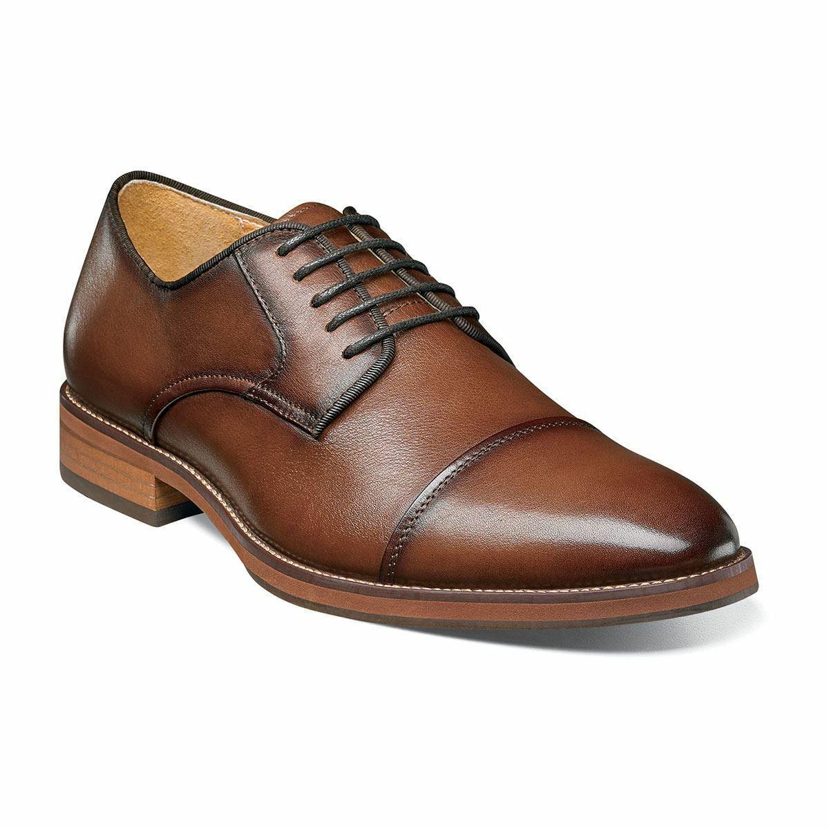 Florsheim Hombre Blaze Gorra Punta Oxford Coñac Zapatos 14199-221