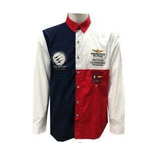 disponibilità nel Regno Unito e0ad7 bba5b Dettagli su camicia aeronautica militare manica lunga cotone taglia dalla M  e L, 2 colori