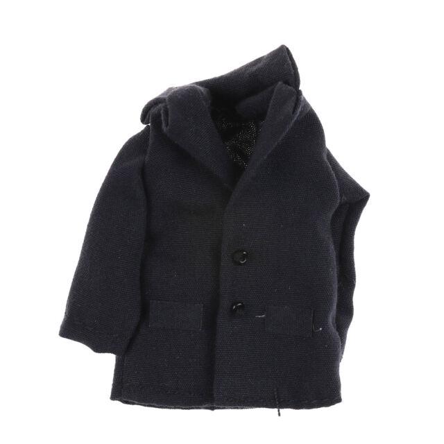 1//12 Scale Dollhouse Miniature Dark blue Clothes Jacket  he