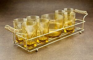 Mid-Century-Modern-Glass-Set-Wire-Holder