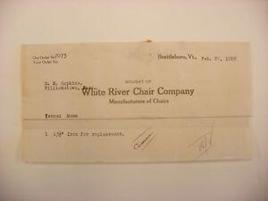 Image Is Loading Vtg Letterhead White River Chair Co Brattleboro VT