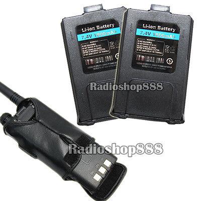 2 psc 1800Mah Li-ion Battery For UV-5R BAOFENG + 1pcs Original Soft Case