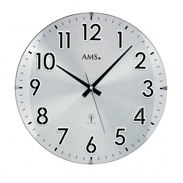 AMS Wanduhr 01-5973 Funkuhr, Durchmesser 32cm