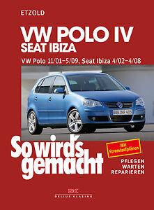 VW POLO 9N REPARATURANLEITUNG Reparaturbuch Jetzt helfe
