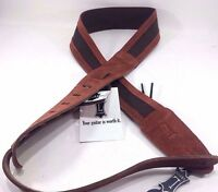 Levy's - M12sc-cpr - Leathers Guitar Strap 2 Cotton Straps With Suede Ends