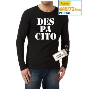 CAMISETA-DESPACITO-CHICO-UNISEX-MANGA-LARGA-NEGRA