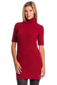 cccaab33 Image is loading Love-Moschino-Mock-Turtleneck-Knit-Dress-Red-Mini-