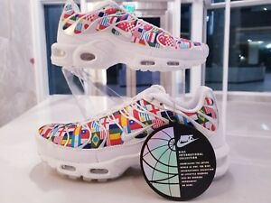 Nike Air Max Plus Tn Nic QS Tuned World Cup Flags White Multi SZ ... 719a6e4f2