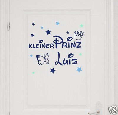 Home Furniture Diy Wall Decals Stickers Prinz Wunschname Wandtattoo Krone Sterne Individuell Turaufkleber Kinder Mtmstudioclub Com