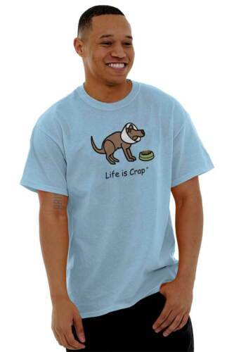 Life is Crap Sick Dog Funny Shirt Cute Puppy Sarcastic Gift Classic T Shirt Tee