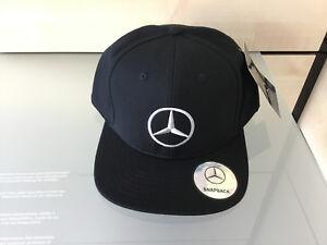 Mercedes-Benz Basball CAP Flat Brim Herren mit Stern LOGO in schwarz