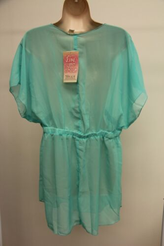 New Miken Swim Swimsuit Cover Up Dress Tunic Size M Mint