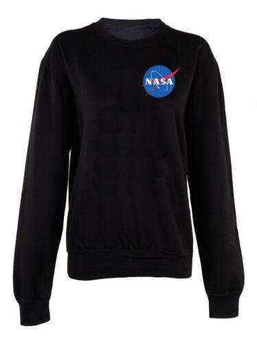 La Nasa Stampa Felpa Maglione Pullover Stelle Cosmic l/'esplorazione spaziale Squadra Top