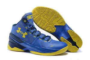 Under Armour Curry Two 2 Ii Away Dub Nation Blue Yellow 1270817 420