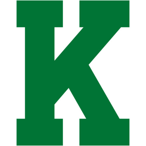Varsity Letter K Decal Sticker Vinyl Window Laptop College Athletic Team Sports