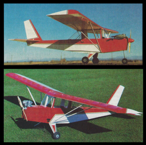 1/6 Scale Hi-Max Airplane Plane Plans, Templates and Instructions 54ws