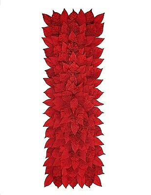 """Red Poinsettia Table Runner by Celebrate It - 36.5"""" x 12.5 ..."""