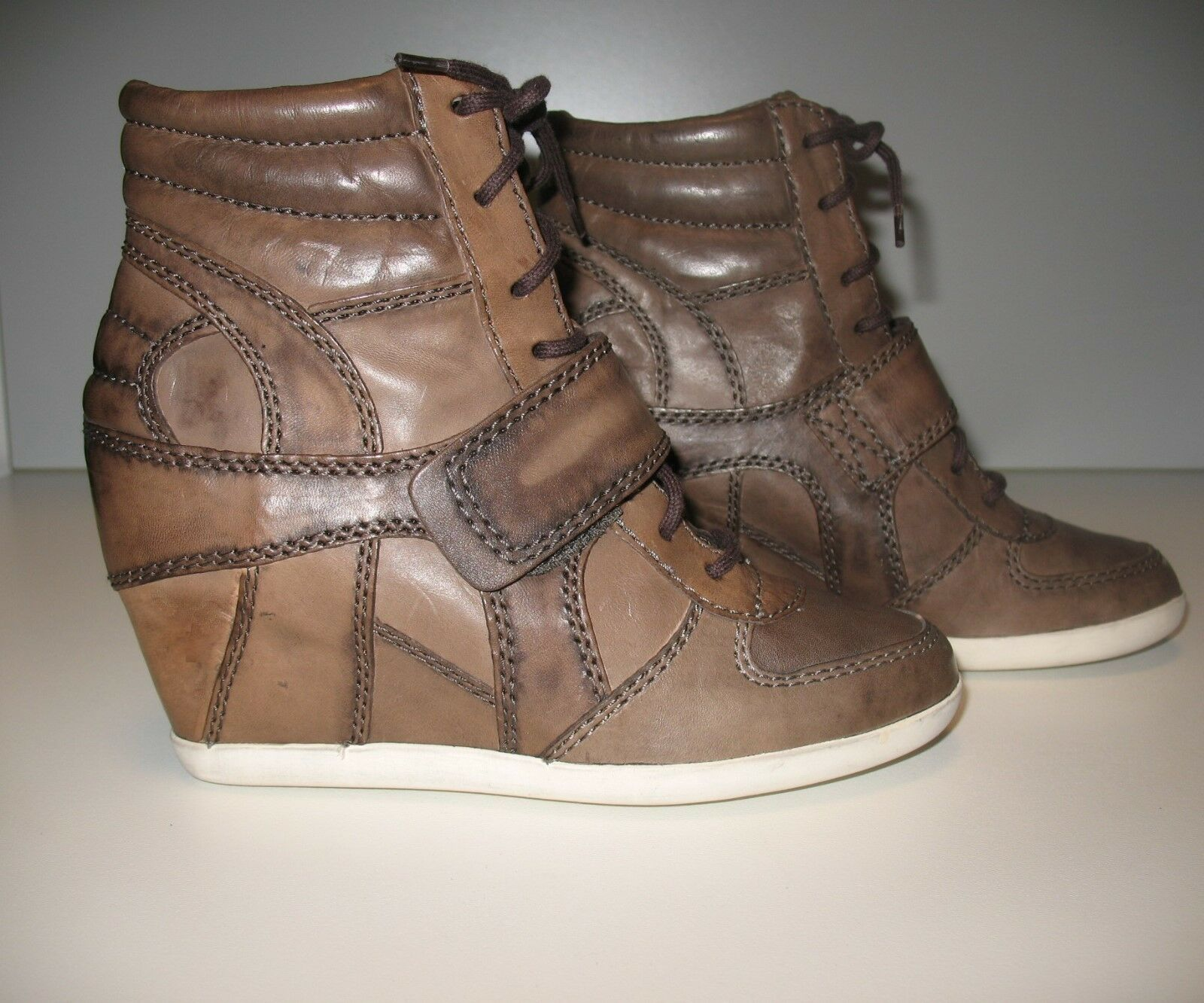 NEW ASH sneakers in brown brown brown leather 299b21
