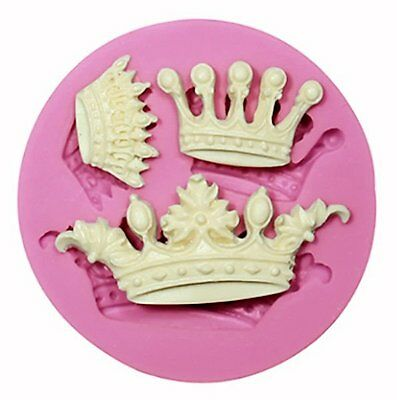 Crowns 3 styles Silicone Mold for chocolate, fondant, gum paste, crafts etc
